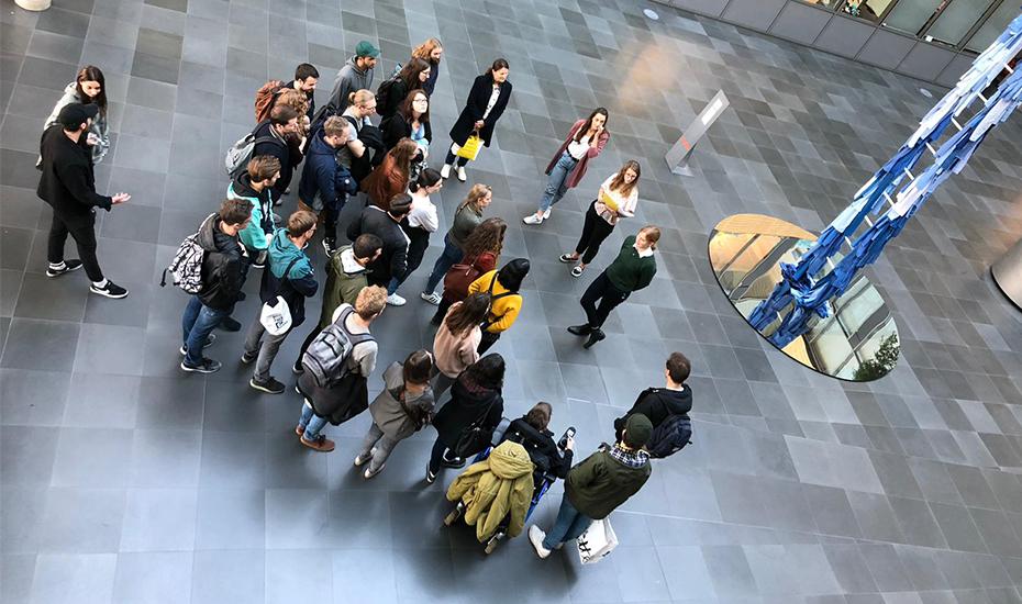 Studierende zu Besuch bei ARTE