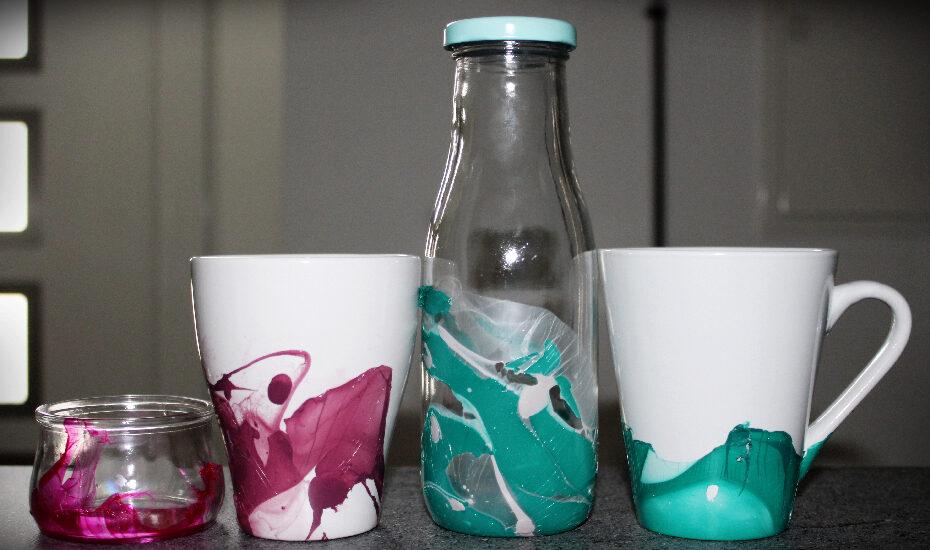 DIY – Marbled Mug mit Nagellack