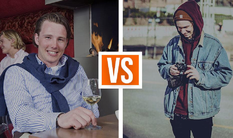 Studenten im Vergleich: BWL-Justus vs. Hipster