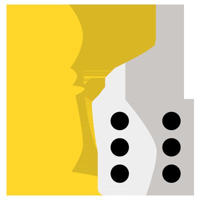 Icon zeigt Spielfigur und Würfel