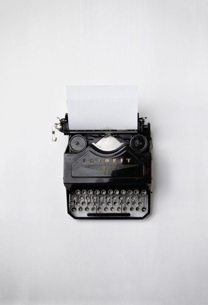 In der Schulzeit lernte Frau Rohbock die Schreibmaschine.