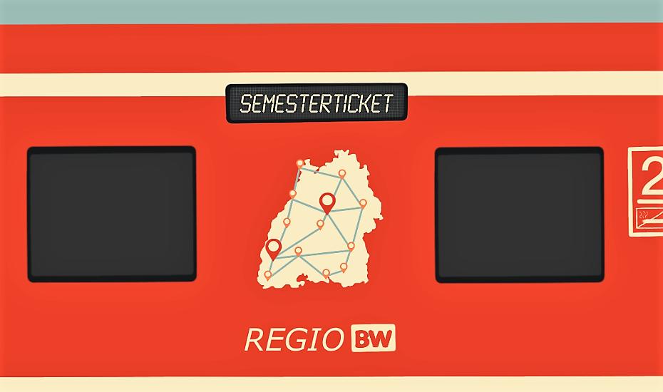 Illustration Semesterticket für Baden-Württemberg