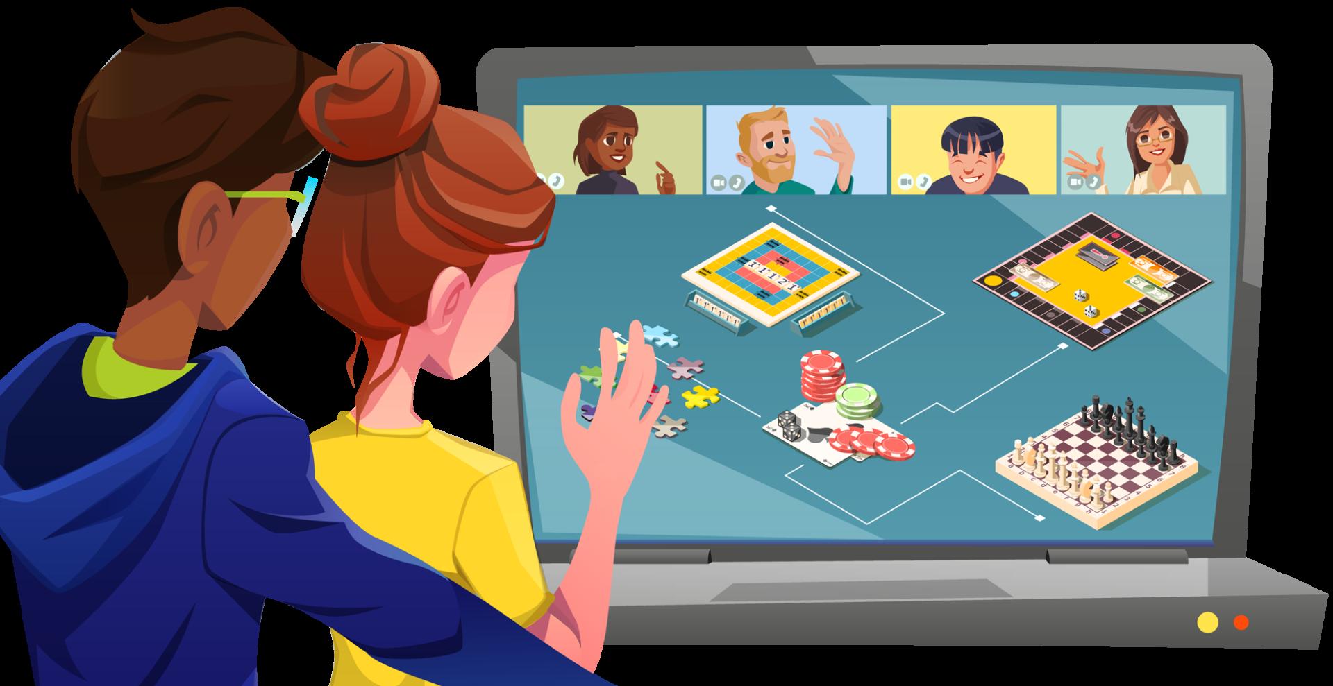 Titelbild Online Spieleabend
