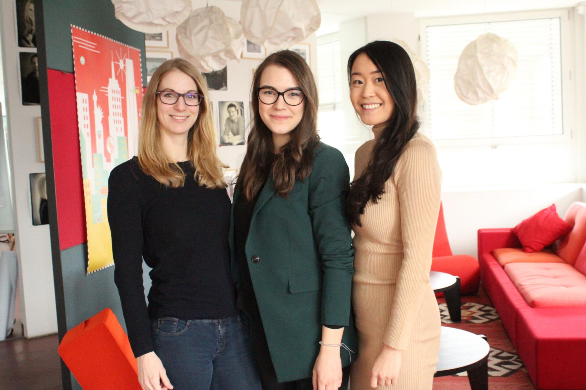 Sarah und ihre beiden Management Trainee Kolleginnen